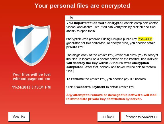CryptoLocker Removal Tool