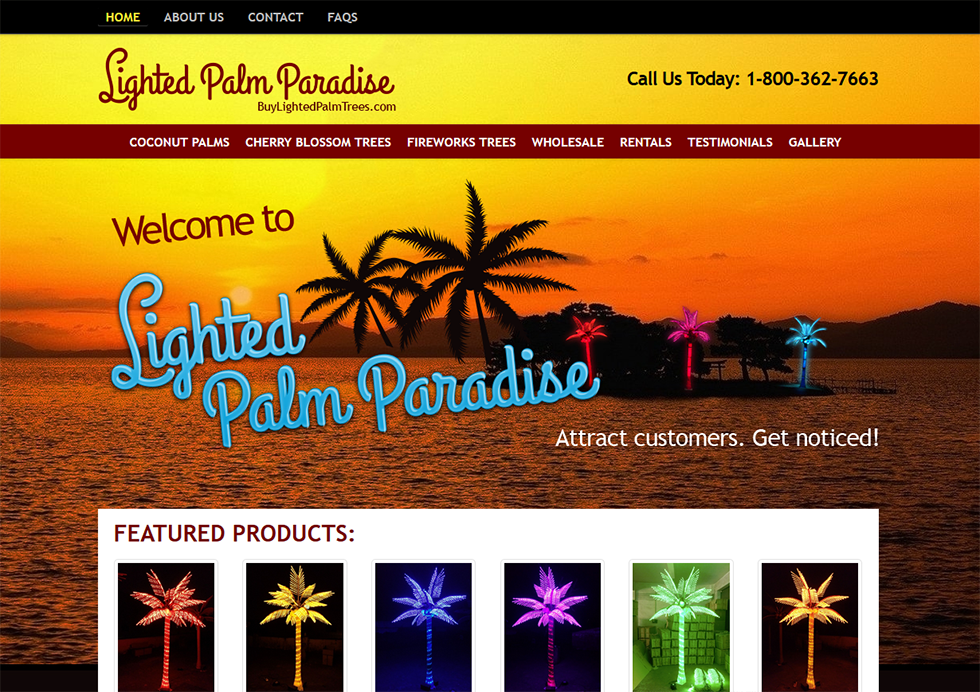 Buy Lighted Palms